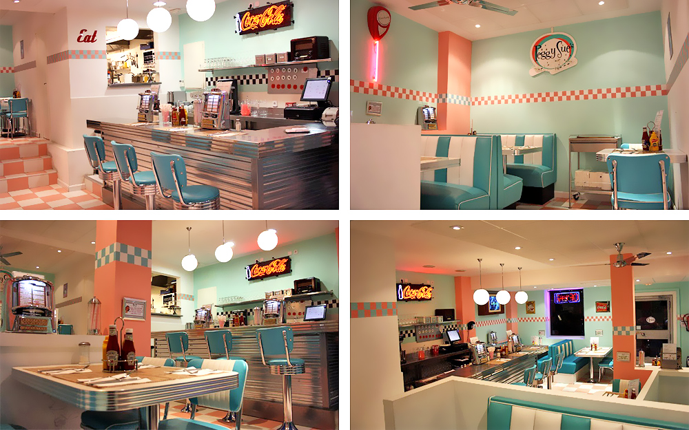 Aménagement d'un restaurant dans le style des années 50