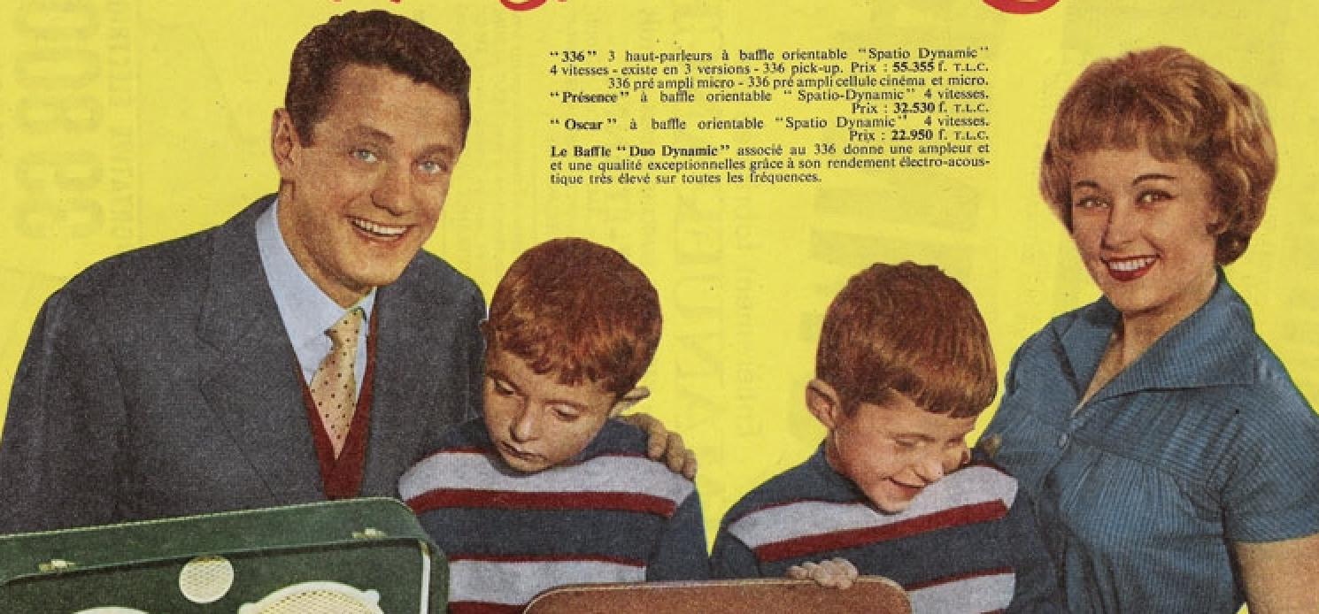 Publicité des années 50 à Lyon, Paris, Dijon