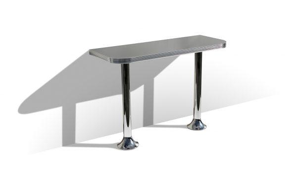 Table debout demi rectangulaire 2 pieds
