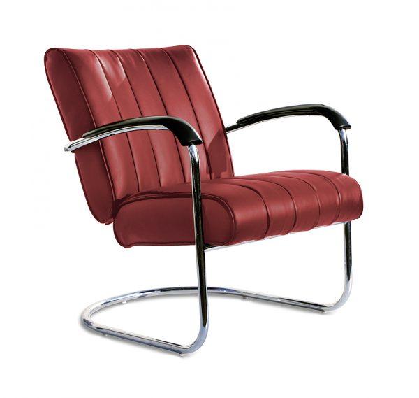Chaise confort unie pieds tubulaires