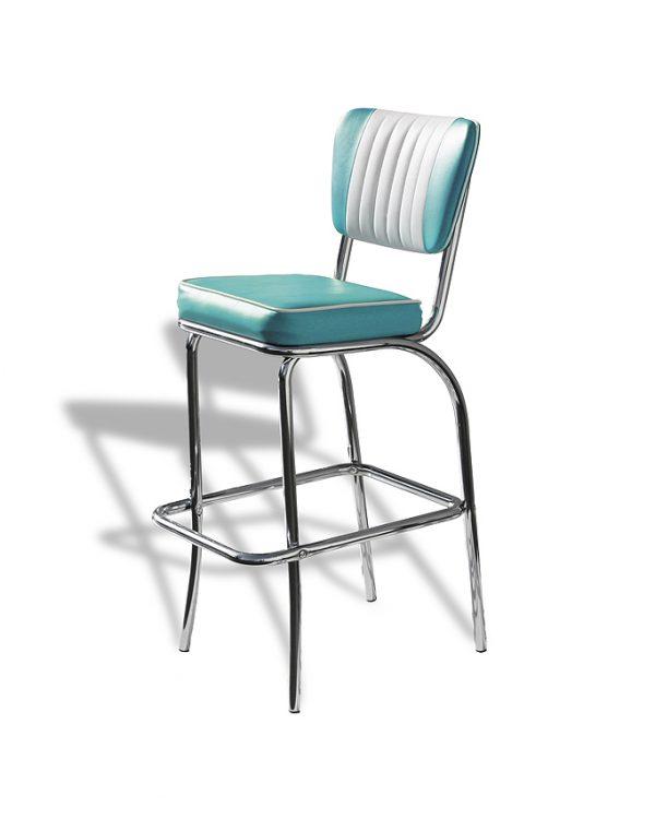 Chaise de bar dossier 4 pieds