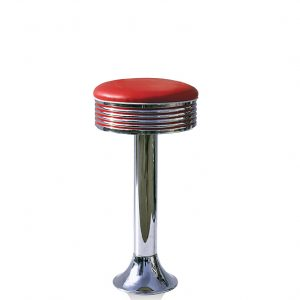 Tabouret de Bar simple sur pied chromé