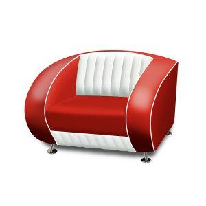 Sofa canapé une place bicolore