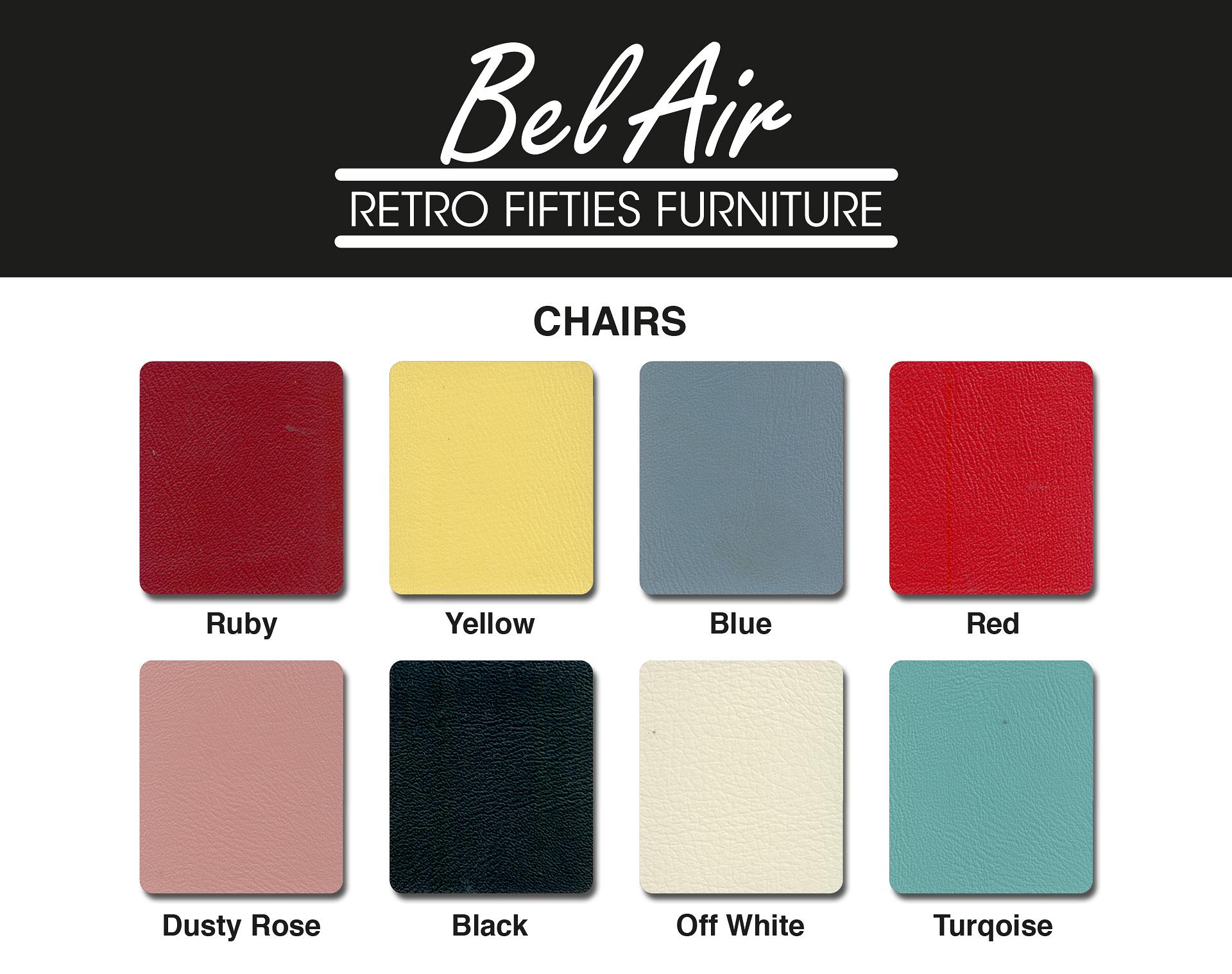 couleurs chaises interieur de restaurant années 50