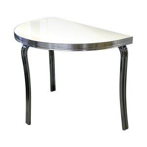 Table demi cercle 3 pieds