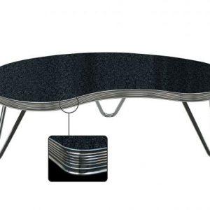 Table de salon forme boomerang