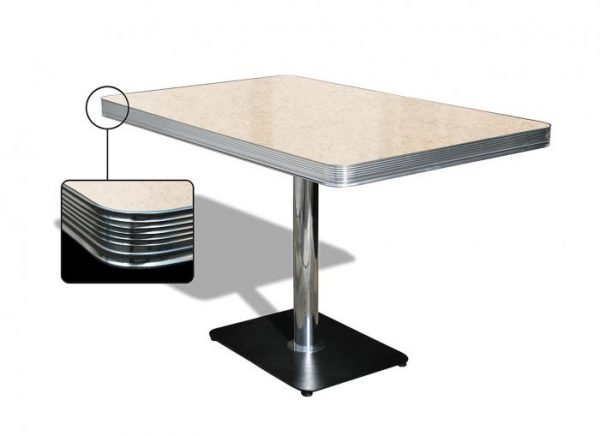 Table rectangulaire 1 pied