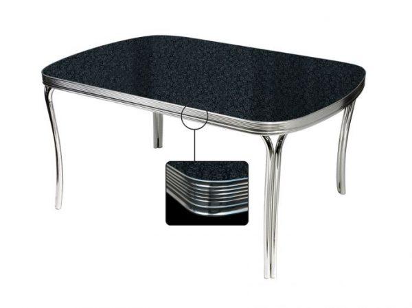 Table rectangulaire arrondie 4 pieds
