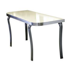 Table demi rectangulaire quatre pieds