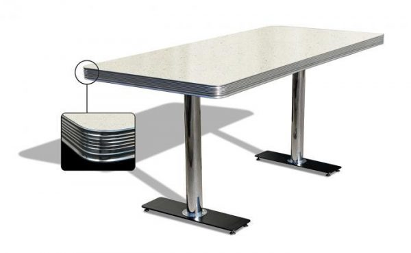 Table reculangulaire grande 2 pieds