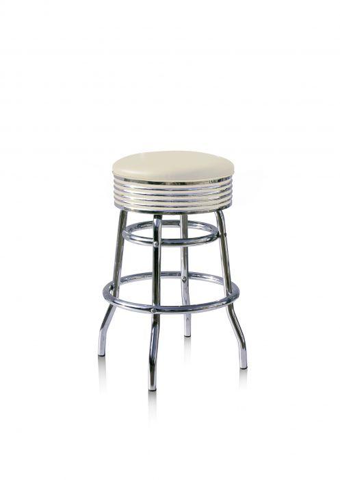 Bel-Air-Années-50-chaise-de-bar-tabouret-de-bar-4-quatre-pieds-BS-29-66-Blanc-Cassé
