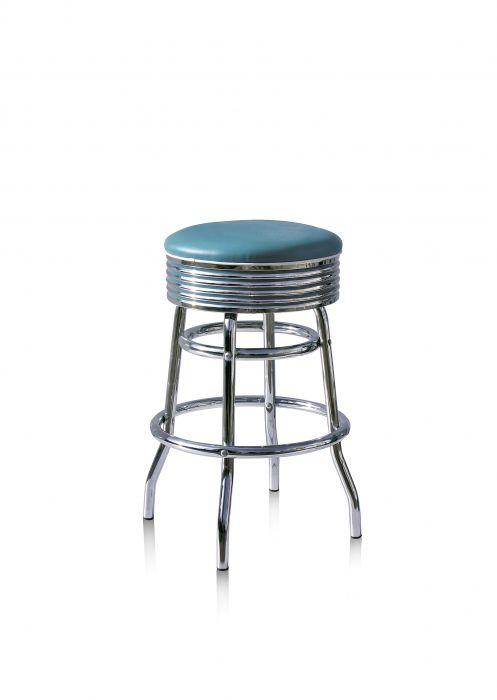 Bel-Air-Années-50-chaise-de-bar-tabouret-de-bar-4-quatre-pieds-BS-29-66-Bleu-Rétro