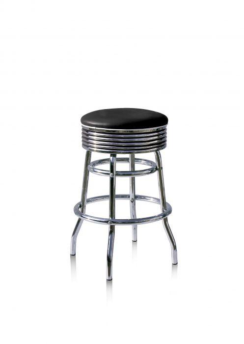 Bel-Air-Années-50-chaise-de-bar-tabouret-de-bar-4-quatre-pieds-BS-29-66-Noir