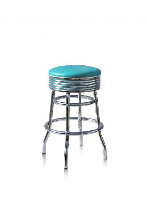 Bel-Air-Années-50-chaise-de-bar-tabouret-de-bar-4-quatre-pieds-BS-29-66-Turquoise